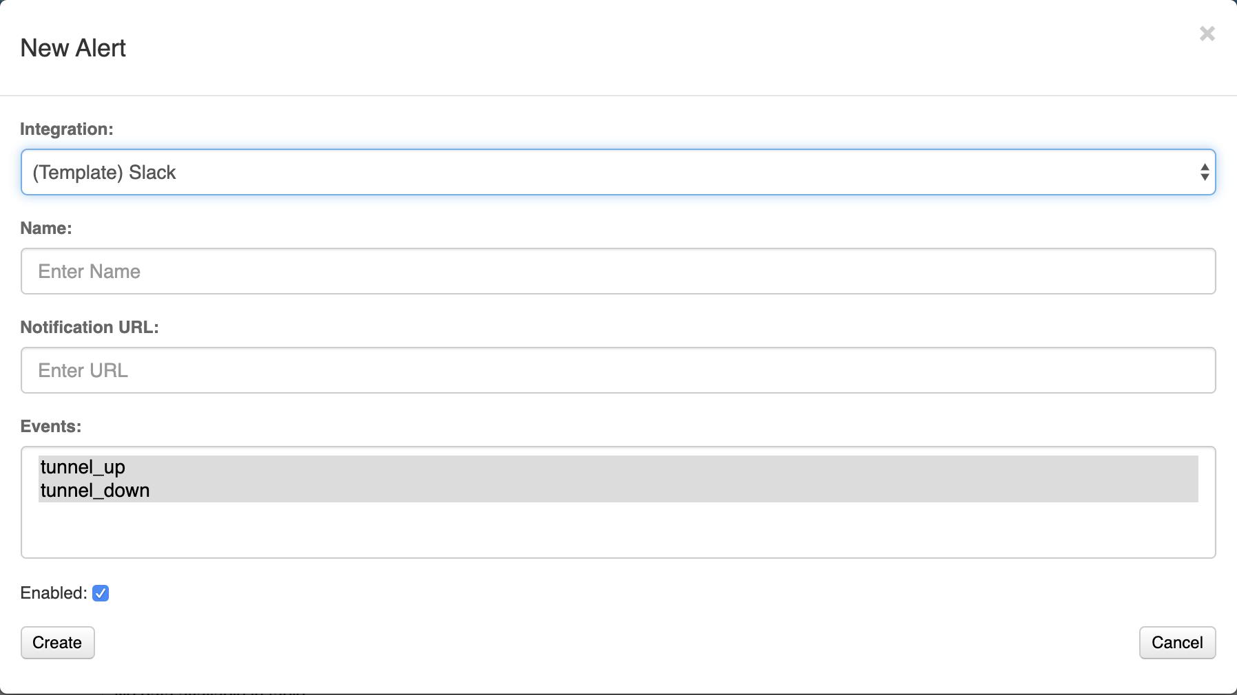 URL VNS3 Slack Alert
