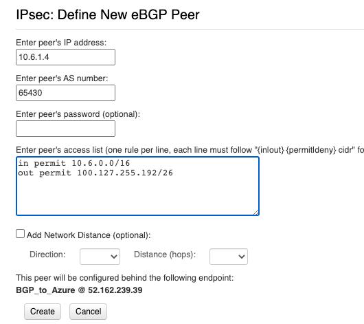 VNS3 new eBGP peer config