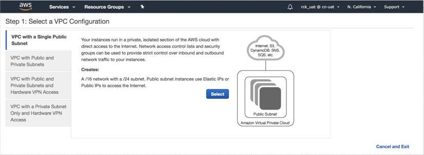 VNS3 Cloud Setup AWS Create VPC 1 Page