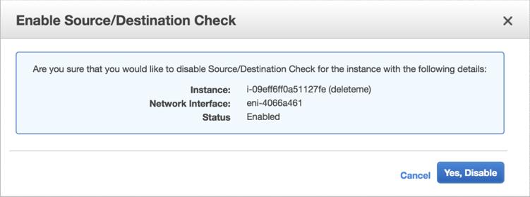 VNS3 Cloud Setup AWS disable src check 2