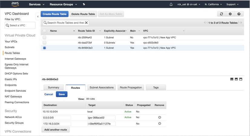 VNS3 Cloud Setup AWS RT 1