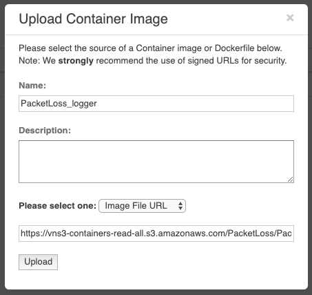 Uploading the Container Image to the VNS3 Plugin System