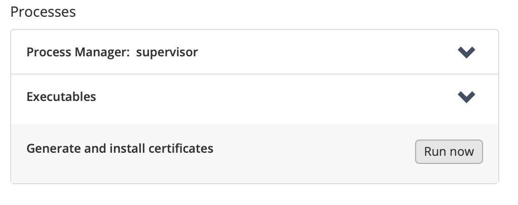 Plugin Manager, run executable: RUN NOW