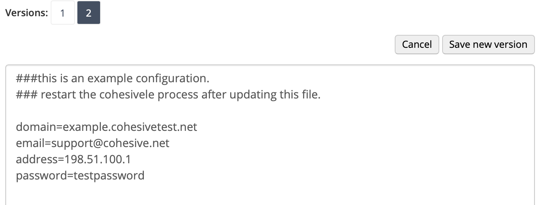 Lets Encrypt Plugin Manager configuration
