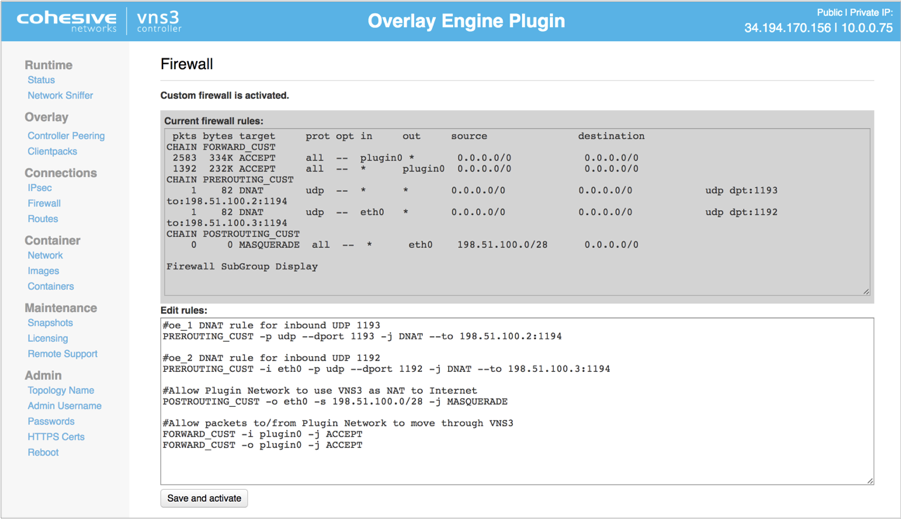 Overlay Engine Firewall Rules