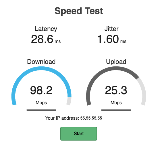 Using the Speed Test Container