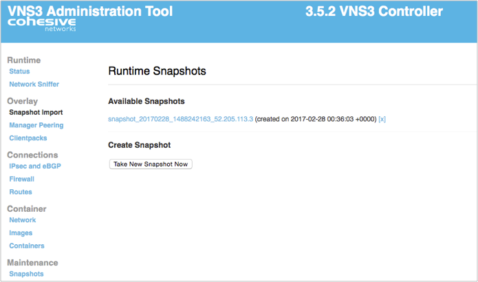 VNS3 Upgrade Steps