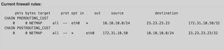 VNS3 Admin Firewall Netmapping UI