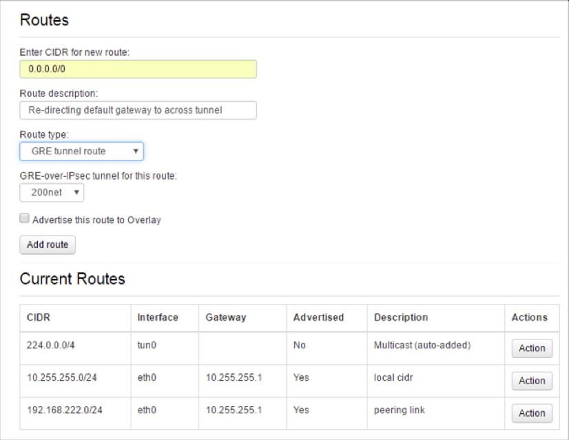 VNS3 Admin Route Gateway Change 1 UI