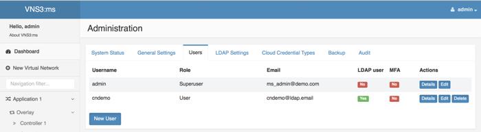 VNS3 MS Admin LDAP 2 Image