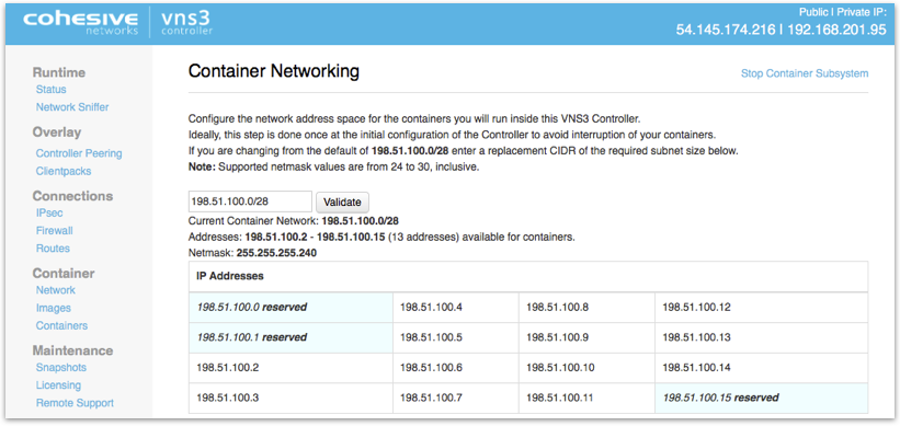 VNS3 Network Edge System Page