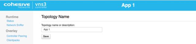 VNS3 Change Topology Name UI