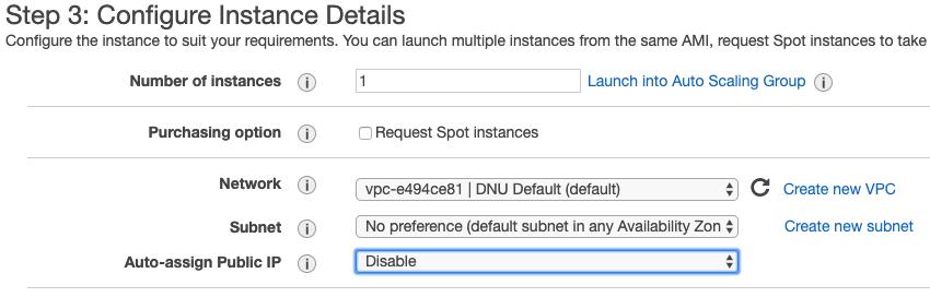 VNS3 configuration,disable auto-assign Public IP